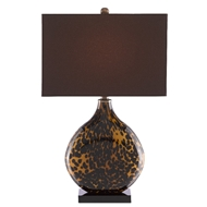 Currey & Company Lighting Nonni Table Lamp 6000-0464 - Tortoise/Black/Antique Brass