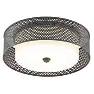 Currey & Company Lighting Notte Flush Mount 9999-0048 - Mol Black