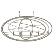 Currey & Company Lighting Octavius Chandelier 9000-0443 - Silver Leaf