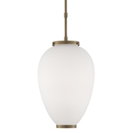 Currey & Company Lighting Ovoid Pendant 9000-0472 - Antique Brass