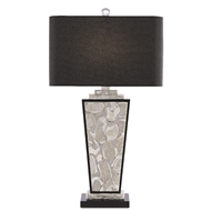 Currey & Company Lighting Patrova Table Lamp 6000-0430 - Pearlized Oyster/Black