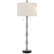 Currey & Company Lighting Peyote Table Lamp 6000-0513 - Polished Aluminum/Black