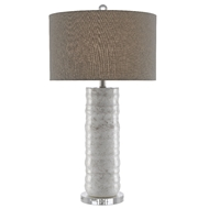 Currey & Company Lighting Pila Table Lamp 6000-0432 - Ivory/Taupe