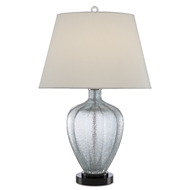 Currey & Company Lighting Radix Table Lamp 6000-0495 - Pale Blue/Black