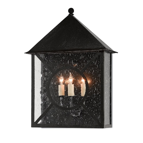 Currey & Company Lighting Ripley Large Outdoor Wall Sconce 5500-0002 - Midnight