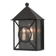 Currey & Company Lighting Ripley Medium Outdoor Wall Sconce 5500-0003 - Midnight