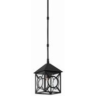 Currey & Company Lighting Ripley Small Outdoor Lantern 9500-0007 - Midnight