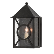 Currey & Company Lighting Ripley Small Outdoor Wall Sconce 5500-0004 - Midnight