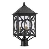 Currey & Company Lighting Ripley Small Post Light 9600-0001 - Midnight
