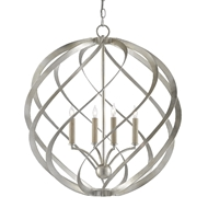 Currey & Company Lighting Roussel Orb Chandelier 9000-0507 - Contemporary Silver Leaf