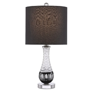 Currey & Company Lighting Sanchez Table Lamp 6000-0471 - Frosted/Black/Clear/Polished Nickel