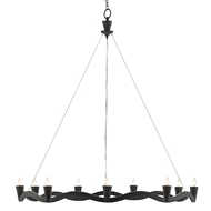 Currey & Company Lighting Serpentina Chandelier 9000-0461 - Antique Black