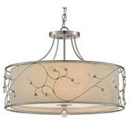 Currey & Company Lighting St. Clears Pendant 9000-0465 - Contemporary Silver Leaf
