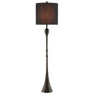 Currey & Company Lighting Trompette Floor Lamp 8000-0067 - Antique Brass