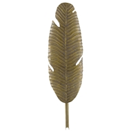 Currey & Company Lighting Tropical Leaf Wall Sconce 5000-0127 - Vintage Brass