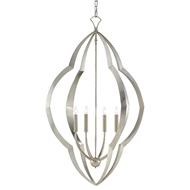 Currey & Company Lighting Viviers Chandelier 9000-0464 - Silver Leaf