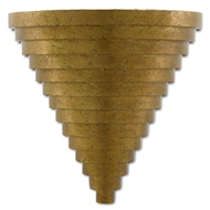 Currey & Company Lighting Wakefield Wall Sconce 5000-0129 - New Gold Leaf