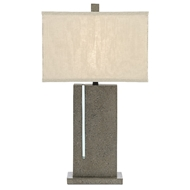Currey & Company Lighting Watson Table Lamp 6000-0490 - Polished Concrete/Aqua/Satin Black