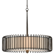 Currey & Company Lighting Wickwire Chandelier 9000-0514 - Bronze Gold/Chestnut