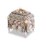 Currey & Company Home Boardwalk Shell Jewelry Box 1251 - Wood/Shell