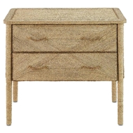 Currey & Company Home Kaipo Two Drawer Chest 3000-0011 - Abaca Rope Wood