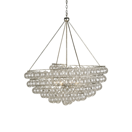 Currey Company Lighting Stratosphere Chandelier 9002-Wrought Iron Glass