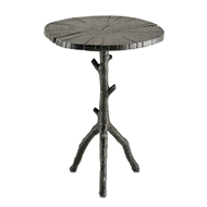 Currey Company Home Swinley Accent Table 4171-Cast Aluminum