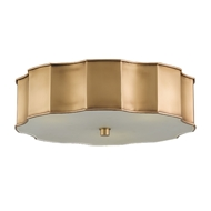 Currey Company Lighting Wexford Flush Mount 9999-0001-Brass Crystal
