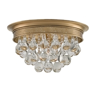 Currey Company Lighting Worthing Flush Mount 9999-0002-Brass Crystal