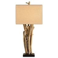 Currey Shade-Driftwood Table Lamp