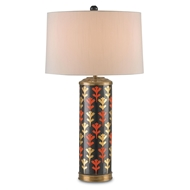 Currey & Company Lighting Alexis Table Lamp 6233 - Porcelain/Brass