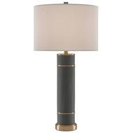 Currey & Company Lighting Archive Table Lamp 6000-0122 Leather