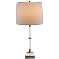 Currey Light Fixtures - 6653 Curio Table Lamp - Metal/Glass Table Lamps