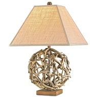 Currey Company Lighting Driftwood Sphere Table Lamp 6444-Wood Iron