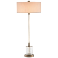Currey Light Fixtures - 6753 Dovercourt Table Lamp - Brass/Glass Table Lamps