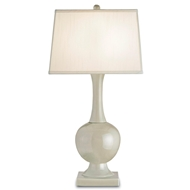 Currey & Company Lighting Downton Table Lamp, Pale Celadon