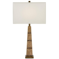 Currey & Company Lighting Aveline Table Lamp 6000-0034 - Marble Metal