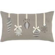Eastern Accents Glistening Ornaments Pillows in Nala Ivory 55% Cotton, 45% Polyester