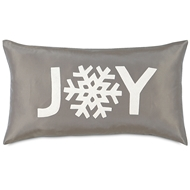 Eastern Accents Snowflake Joy Pillows in Breeze Linen 100% Linen ?