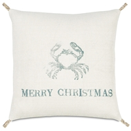 Eastern Accents Festive Crab Pillows in Rustique Birch 100% Jute