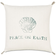 Eastern Accents Festive Shell Pillows in Rustique Birch 100% Jute