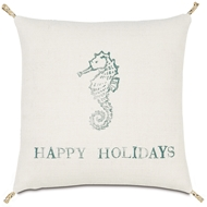 Eastern Accents Festive Seahorse Pillows in Rustique Birch 100% Jute