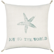 Eastern Accents Festive Star Pillows in Rustique Birch 100% Jute