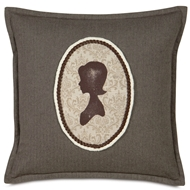 Eastern Accents My Girl Pillows in Flint Charcoal 100% Cotton
