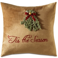 Eastern Accents Merry Mistletoe Pillows in Madden Honey 100% Polyester