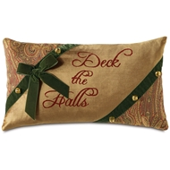 Eastern Accents Sleigh Bells Pillows in Madden Honey 100% Polyester