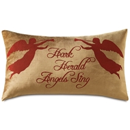 Eastern Accents Hark Herald Angels Sing Pillows in Madden Honey 100% Polyester