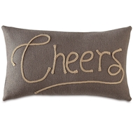 Eastern Accents Cheers Pillows in Crosby Charcoal  52% Polyester, 48% Acrylic