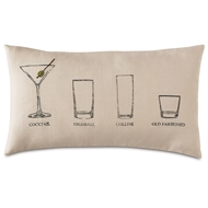Eastern Accents Have A Cocktail Pillows in Vivo Bisque 55% Cotton, 45% Polyester