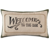 Eastern Accents Welcome To The Bar Pillows in Vivo Bisque 55% Cotton, 45% Polyester